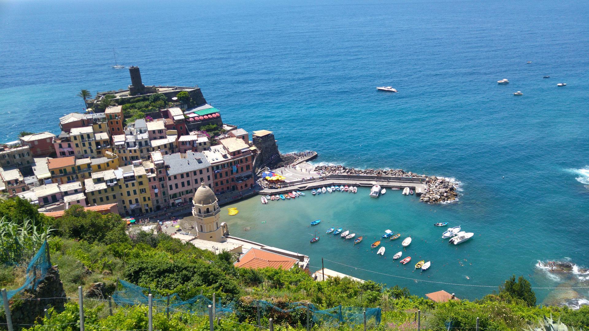 Vernazza Village Cinque Terre from above